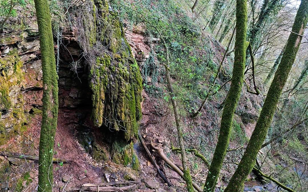 Wasserfälle im Spessart, der Klingelsbachgraben-Wasserfall
